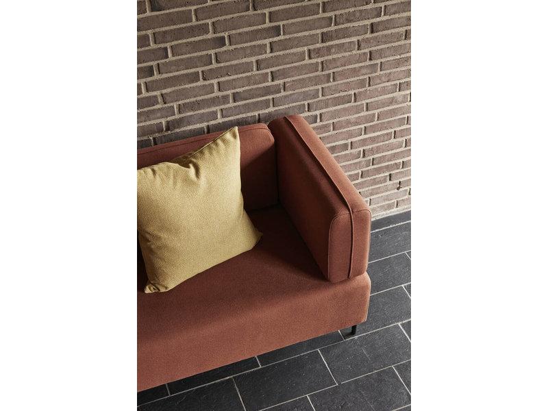 Hubsch Polyester / metal sofa - brown / black
