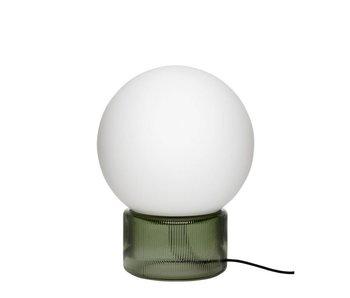 Hubsch Lampe de table en verre - vert