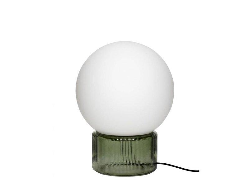 Hubsch Bordslampglas - grönt