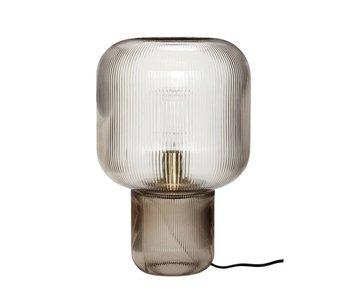 Hubsch Lampe de table en verre - fumé