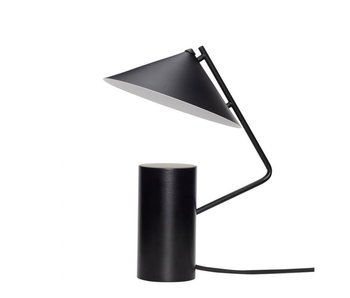 Hubsch Tischlampe Metall - schwarz