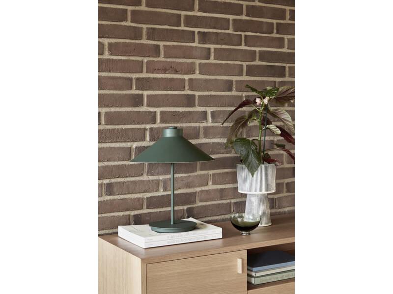 Hubsch Table lamp metal - green