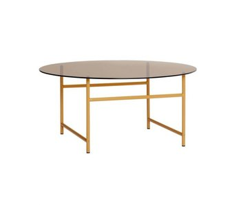 Hubsch Coffee table metal / glass - orange