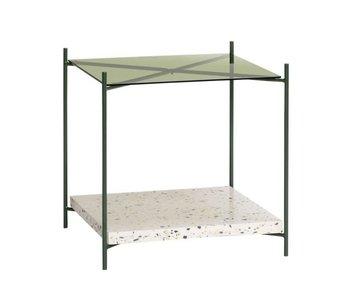 Hubsch Sidobord terrazzo / glas - natur / grönt
