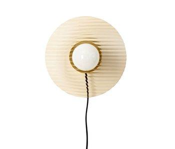Hubsch Lámpara de pared de metal / vidrio - latón