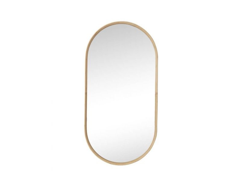 Hubsch Wall mirror bamboo - natural