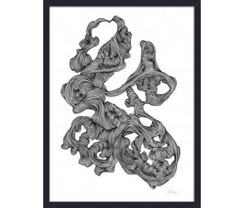Nordal Rocaille illustration - black and white