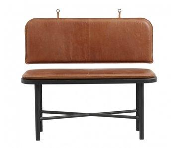 Nordal Canapé Gila avec coussins en cuir