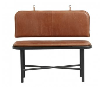 Nordal Gila sofa with leather cushions