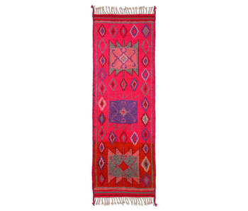 HK-Living Tapis de passage en laine - rose