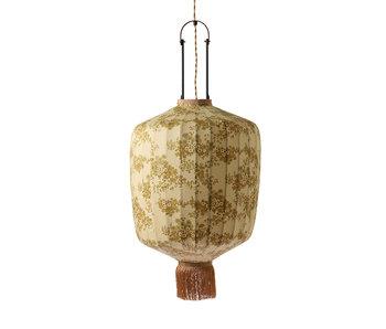 HK-Living Traditionel lanterne lampe med vintage print