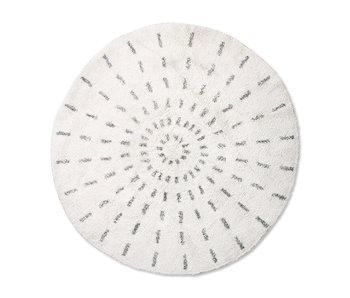 HK-Living Bath mat swirl 120cm
