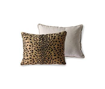 HK-Living Cushion flock - panther print