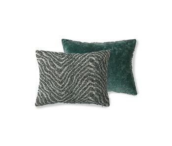 HK-Living Cushion jacquard wave zigzag