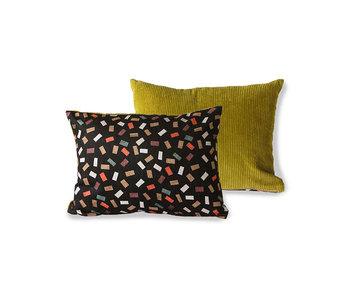 HK-Living Printed / rib cushion flakes