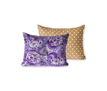 HK-Living Printed cushion purple