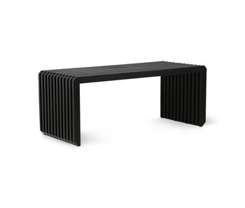 HK-Living Slatted bench / element - black