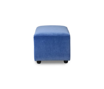 HK-Living Jax hocker small royal velvet - blue