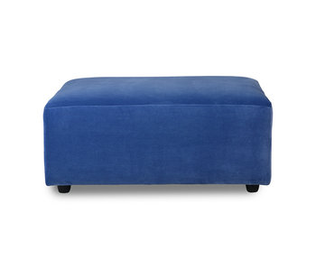 HK-Living Jax hocker royal velvet - blauw