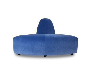 HK-Living Jax element sofa module corner royal velvet - blue