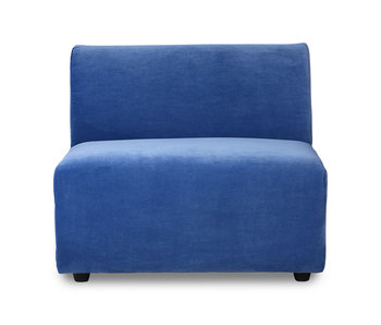 HK-Living Jax element sofa module middle royal velvet - blue