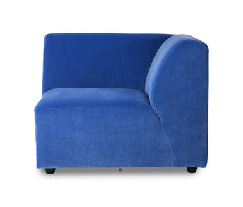 HK-Living Jax element sofa module right royal velvet - blue