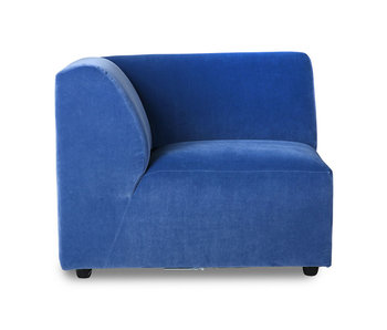 HK-Living Jax element sofa module left royal velvet - blue