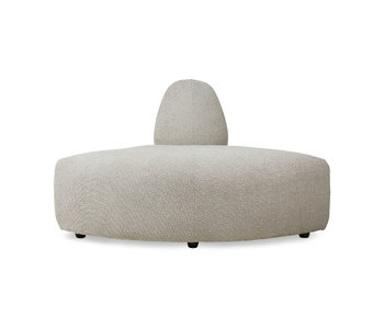 HK-Living Jax element sofa module corner ted - stone