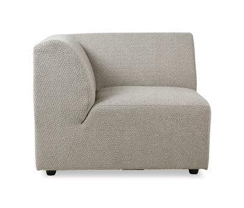 HK-Living Module de canapé élément Jax gauche Ted - pierre
