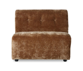 HK-Living Vint element sofa module middle corduroy velvet - aged gold
