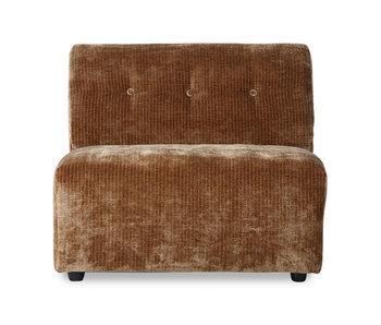 HK-Living Vint element sofamodul midt corduroy fløjl - ældet guld