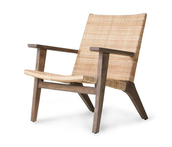 HK-Living Woven lounge chair
