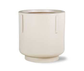 HK-Living Flower pot earthenware - cream