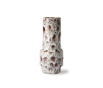 HK-Living Vase rétro en céramique lave blanc