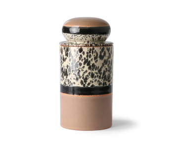 HK-Living Ceramic 70's storage jar - tropical