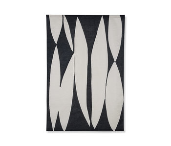 HK-Living Wandkaart abstract - zwart/naturel