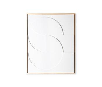 HK-Living Rahmenrelief Kunstplatte D groß - weiß