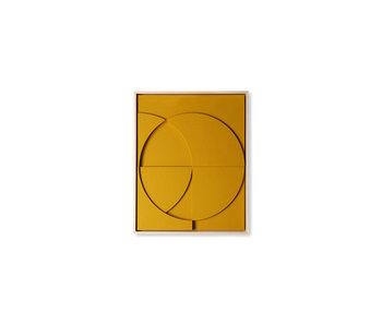 HK-Living Rahmenrelief Kunstplatte C klein - ocker