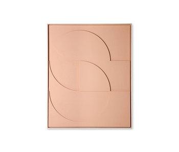 HK-Living Rahmenrelief Kunstplatte D groß - Pfirsich