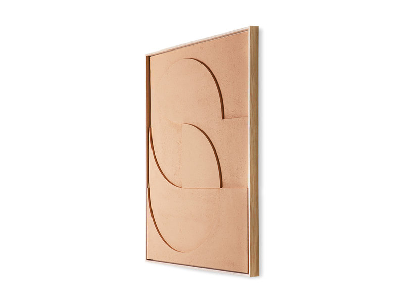 HK-Living Frame relief art panel D large - peach