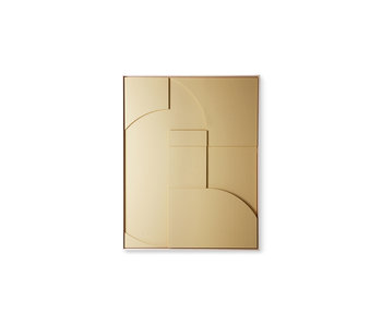 HK-Living Rahmenrelief-Kunsttafel Ein mittlerer Sand