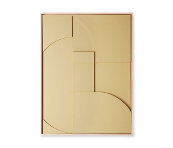 HK-Living Frame relief art panel A extra large - zand