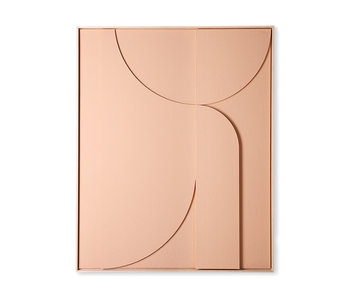 HK-Living Frame relief art panel B extra large - peach