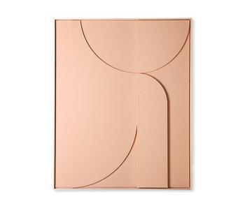 HK-Living Rahmenrelief Kunstplatte B extra groß - Pfirsich