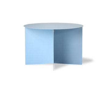 HK-Living Metal side table round - blue