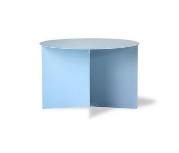 HK-Living Table d'appoint ronde en métal - bleu