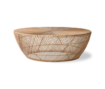 HK-Living Wicker coffee table