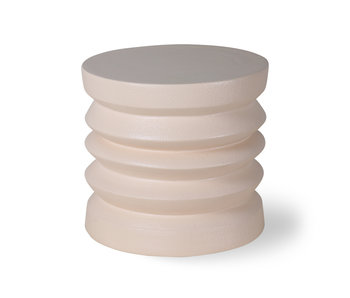 HK-Living Earthenware side table cream