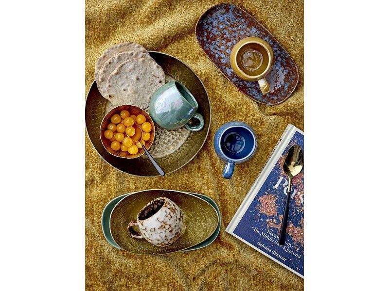 Bloomingville Paula bord blauw - set van 6 stuks