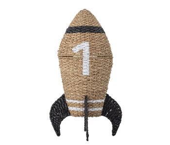 Bloomingville Mini Raketenaufbewahrungskorb mit Deckel